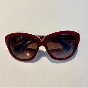 Brand new Valentino sunglasses rouge noir